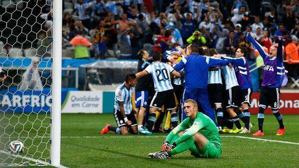 Argentina festeja el pase a la Final