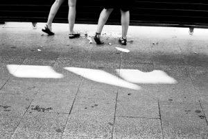 valla de obra del Teatro de la Comedia en la calle Príncipe 14 de Madrid | fotografía de David Hornillos