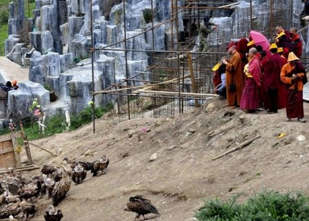 Entierro en el Tibet