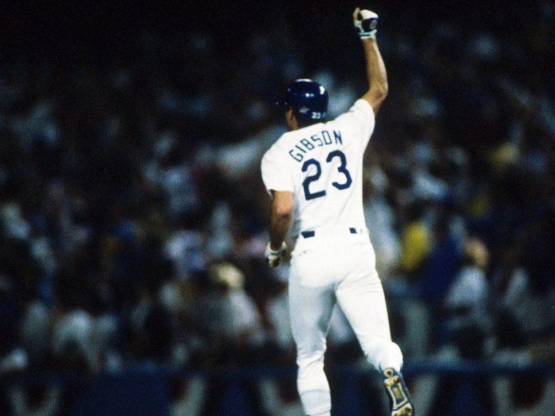 béisbol caja bateo Kirk Gibson serie mundial 1988