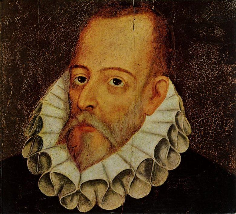 ilulstración Retrato de Miguel de Cervantes, por Juan de Jauregui (siglo XVII)